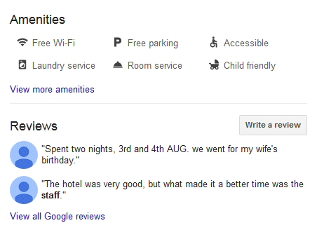Googe Business Page Reviews
